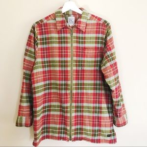 ♦️SOLD♦️100% Cotton Field Gear Zip-up Flannel